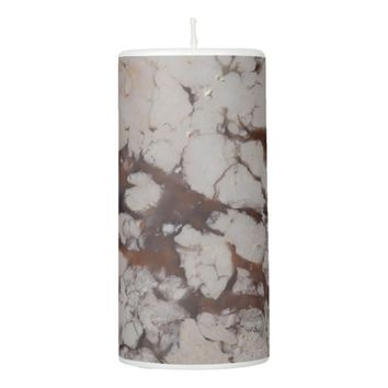Marble Stone Pattern Pillar Candle
