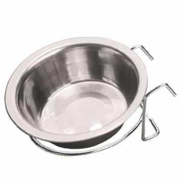 Stainless Steel Hanging Pet Cage Bowl