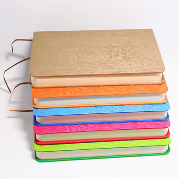 Loose-leaf Notebook Kraft Paper Cover Daily Diary Creative Trend Car Wire Binding Thicker Type Notepad