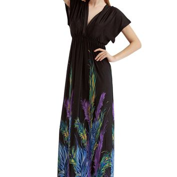 Chicloth San Francisco Feather Plus Size Dress
