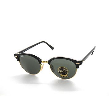 ~RAY BAN SunglaSSeS 4246 BLACK/GOLD/GREEN 901 Rayban