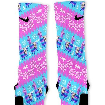 Fortnite Llama Christmas Sweater Custom Nike Elite Socks