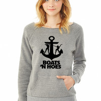 Boats N Hoes ladies sweatshirt