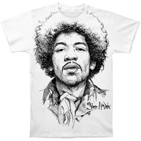 Jimi Hendrix Men's  Jimi Sketch T-shirt White