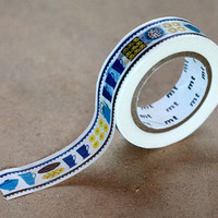 Cafe Time, Almedahls - Japanese Washi Paper Masking Tape - Zakka Style Design Tape, Art Supply, Kawaii Colorful Deco Collage, Gift Wrapping