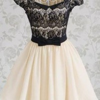 Vintage Romantic Lace Short Sleeve dress