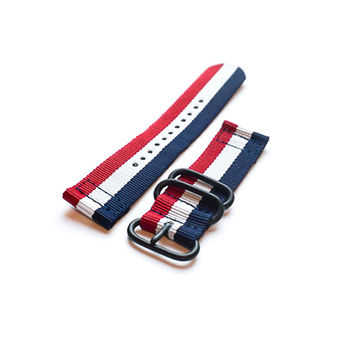Smart Watch Strap PVD Red White and Navy
