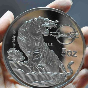 christmas Chinese Collect Rare zodiac Tiger beast 1998 Commemorative Coins Statue halloween