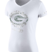 Nike Platinum Dri-Blend (NFL Packers) Women's T-Shirt Size XS (White)