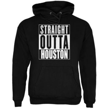 CUPUPWL Straight Outta Houston Black Adult Hoodie