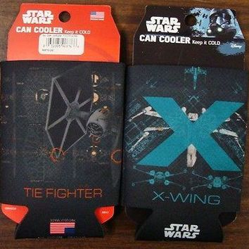 X-WING & TIE FIGHTER THE FORCE AWAKENS STAR WARS KADDY KOOZIE CAN HOLDER NEW