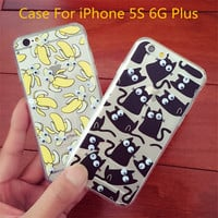 For APPLE iPhone 5 5S 5G 6 6G 6 Plus 2015 Ultra thin 3D Rotating Small Eyes TPU Silicone Case Cover Back Cover Call phone cases