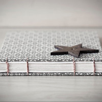 grey flower landscape journal by crookedcat on Etsy