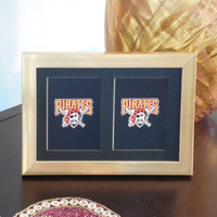 Pittsburgh Pirates 5x7 No Exposure Authentic Playing Card Display Matted FRAMED NF2004