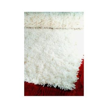 Safavieh Classic Shag Collection SG240A Handmade White Area Rug, 3 feet by 5 feet (3' x 5')