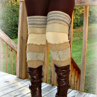 Leg Warmers, Long Leg Warmers, Boot Toppers, Winter Leggings, OOAK  Upcycled Leggings, Handmade Leg Warmers, Upcycled Sweaters, Gift for Her