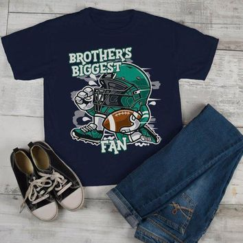 Kids Football T Shirt Brother's Biggest Fan TShirt Sibling Player Graphic Tee Boy's Girl's