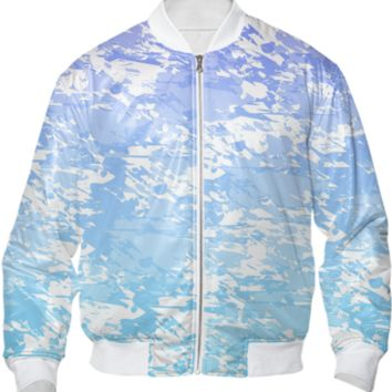 Purple Blue And White Bomber Jacket created by KCavender | Print All Over Me