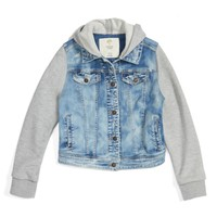 Tucker + Tate Mixed Media Jacket (Big Girls) | Nordstrom