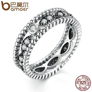 Popular 925 Sterling Silver 2 pcs DIY Finger Ring with Stone Women Fashion Wedding Jewelry SCR010