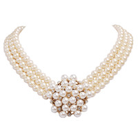 Pearl Clusters Wedding Gift for Women Pendant Necklace
