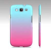 Pink & Blue Cotton Candy Ombre - Premium Slim Fit Galaxy S3 Case - Also Available For Iphone 4/4s and Iphone 5