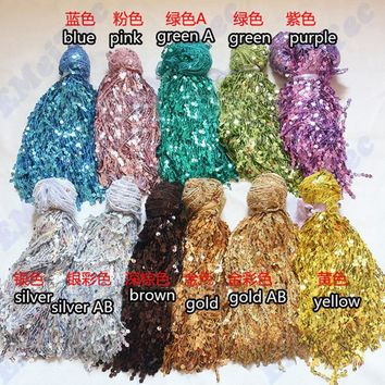 30cm tassel fringe sequin lace ribbon dance Stage clothes DIY trim fabric trimming decorative materials latin Belly Dance dress
