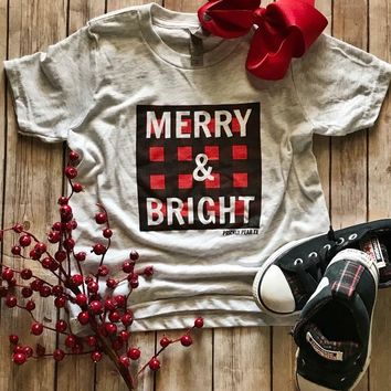 MERRY AND BRIGHT KIDS TEE