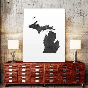 Shop Michigan State Map On Wanelo