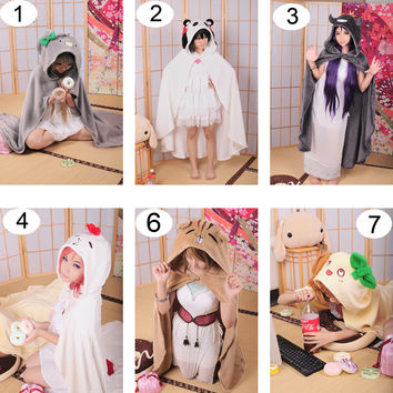 LoveLive Cartoon Cloak Air Conditioning Blanket Anime Cosplay Halloween