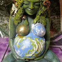 Gaia, Statue, Mother Earth, Fertility, Honor, Altar, Sacred Space, Wiccan, Pagan