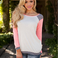 Block Long-Sleeve Pullover Shirt