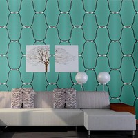 Modern 3D Wallpaper for Walls Large Plaid Zipper Wall Paper Roll for TV and Sofa Background Waterproof Blue Rose Red Wallpapers