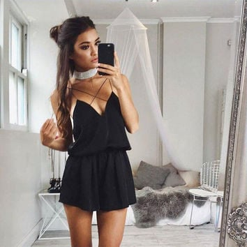 Summer Stylish 4 Colors Sexy Romper [11136595343]