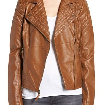 Jessica Simpson Quilted Faux Leather Jacket | Nordstrom