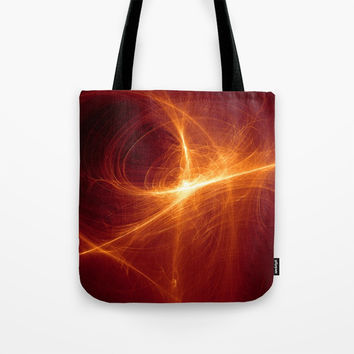 orange Abstract background Tote Bag by Oksana