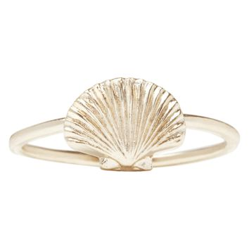 Scallop Shell Stacking Ring