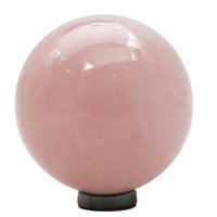 Rose Quartz Ball 04 Pink Stone Sphere + Stand (2.6 Inches)