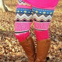 Kaleidoscope Aztec Fleece Leggings