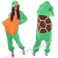 Unisex Adult Turtle Onesuit tortoise Pajamas Anime Costume Dress Robe