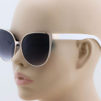 2-PAIR Cat Eye XXL Princess Barbie Pink OVERSIZED Metal Frame Women Sunglasses