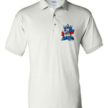 Brand New Polo T-shirt Transformers Optimus Prime