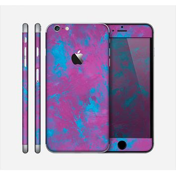 The Purple and Blue Paintburst Skin for the Apple iPhone 6 Plus