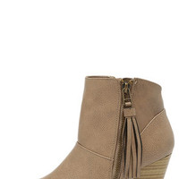 Nitty Pretty Taupe High Heel Ankle Boots