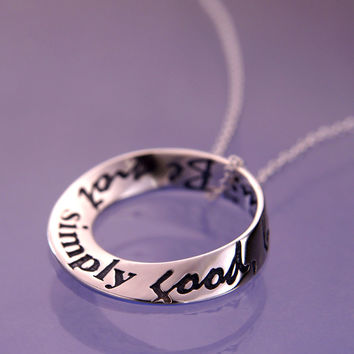 Thoreau's Advice Small Sterling Silver