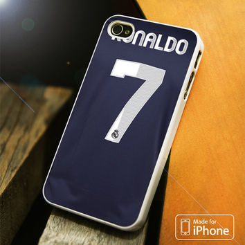 Real Madrid Ronaldo CR7 Jersey iPhone 4(S),5(S),5C,SE,6(S),6(S) Plus Case