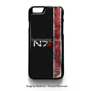Mass Effect N7 for iPhone 4 4S 5 5S 5C 6 6 Plus , iPod Touch 4 5  , Samsung Galaxy S3 S4 S5 Note 3 Note 4 , and HTC One X M7 M8 Case Cover