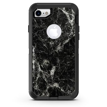 Black Scratched Marble - iPhone 7 or 8 OtterBox Case & Skin Kits