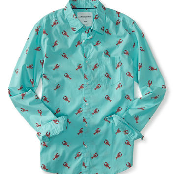Aeropostale  Long Sleeve Lobster Woven Shirt