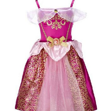 Girls Dress Belle Cinderella Dress Rapunzel Elsa Costume Snow White Girls Christmas Dress Kids Halloween Costume Vestidos